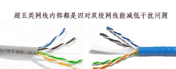 六类网线比超五类网线传输速度快?他们到底有什么不同?