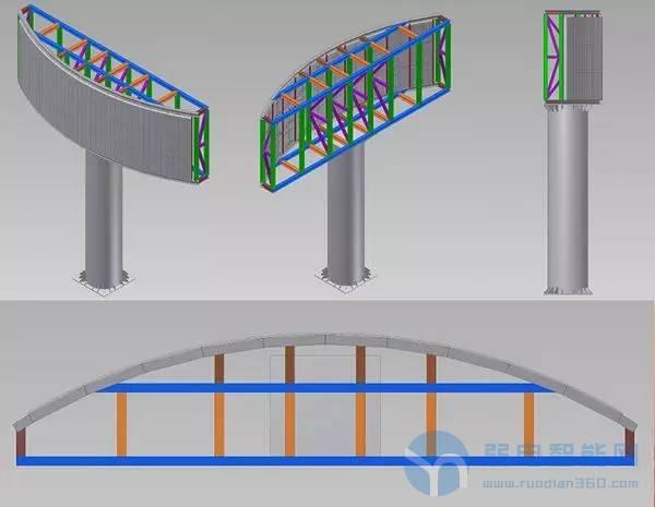 LED弧形式安装方式